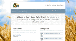 Preview of cedarshoalsbaptist.org